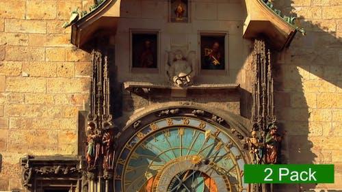 Ancient Astronomical Clock (2 Pack)