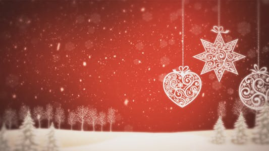 Thumbnail for Christmas Background Red