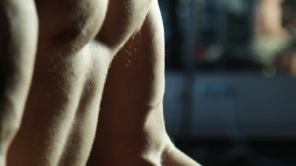 Thumbnail for The Bodybuilder Does Exercise With a Bar