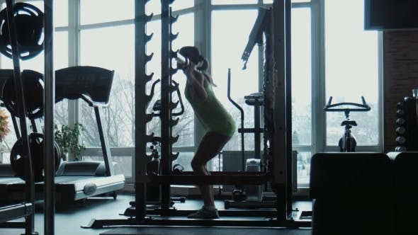 Thumbnail for The Girl Does Exercises In a Gym