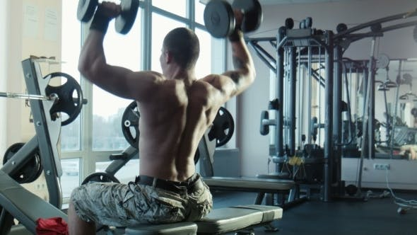 Thumbnail for The Bodybuilder Does Exercises For a Back