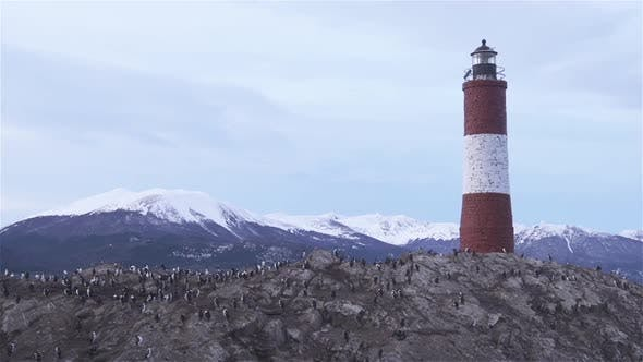 Thumbnail for Les Eclaireurs lighthouse island in the middle of the Beagle Channel.
