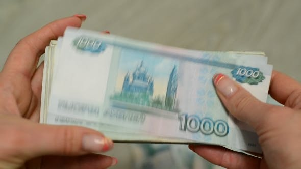 Thumbnail for Women Hands Counting Russian Banknotes