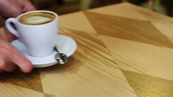 Thumbnail for Coffee Cup On Wooden Table.