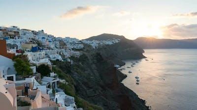 Sunrise in Santorini, Oia Greece