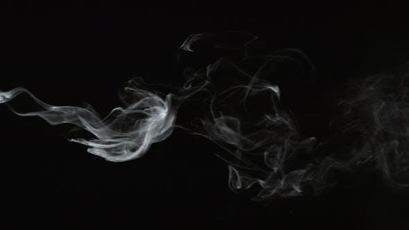 Thumbnail for Smoke on black background in slow motion; shot on Phantom Flex 4K at 1000 fps