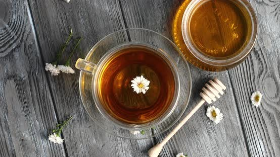 Thumbnail for Herbal Tea and Jar of Honey