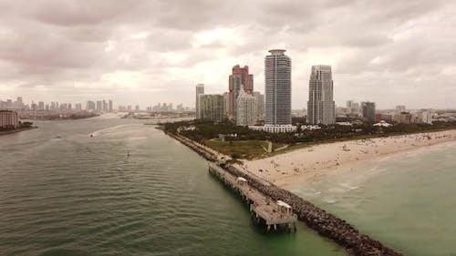 Aerial Miami Shot On Dji Mavic Mini 2