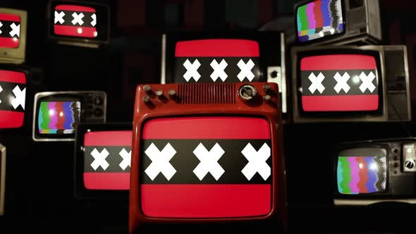 Thumbnail for Flag Of Amsterdam and Retro TVs.
