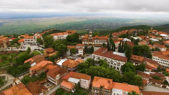 Thumbnail for Tourism in Georgia Aerial View of Sighnaghi Town and Alazani Valley
