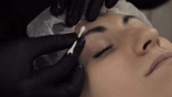 Thumbnail for Cosmetologist Applying Permanent Makeup