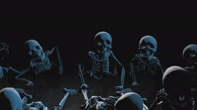 4K Strobe light skeletons