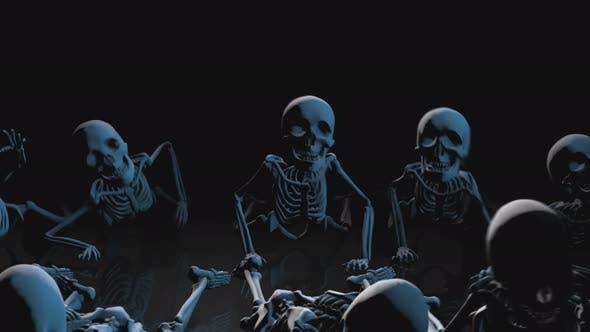 4K Strobe light skeletons