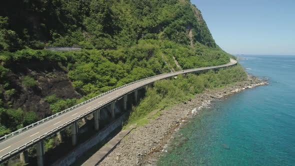 Cover Image for Highway on the Viaduct By the Sea. Philippines, Luzon