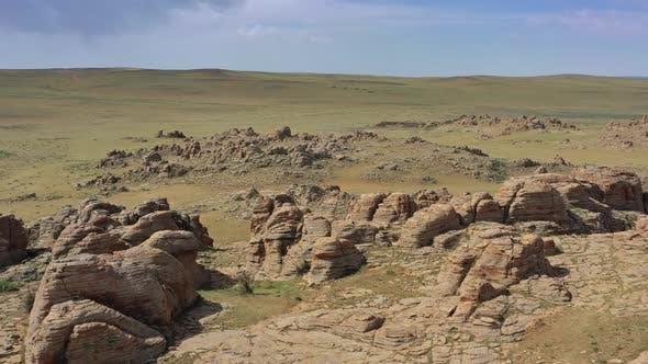 Thumbnail for Rock Formations and Stacked Stones in Mongolia