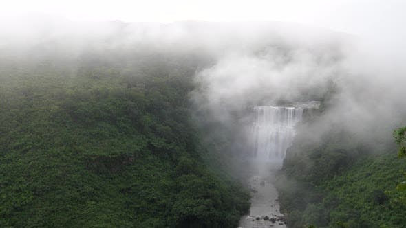 Kambadaga Falls in Guinea