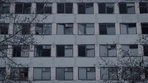 Exterior of an Empty Multistorey Building