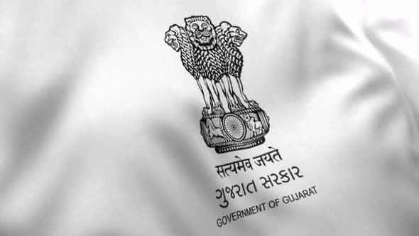 Gujarat Flag (India) - 4K