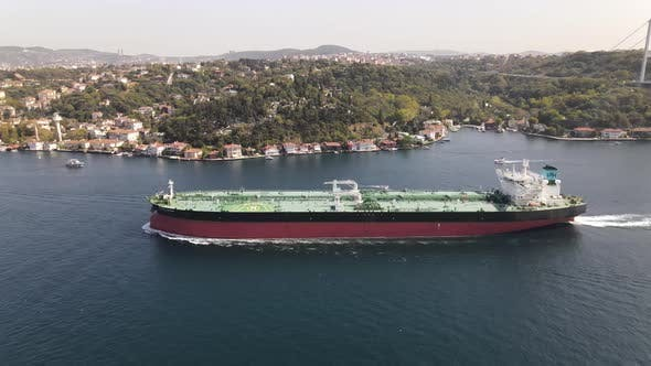 Sea Transportation Ship Aerial Drone