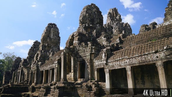 Thumbnail for 4K Bayon Temple Ruins in Angkor Wat, Cambodia