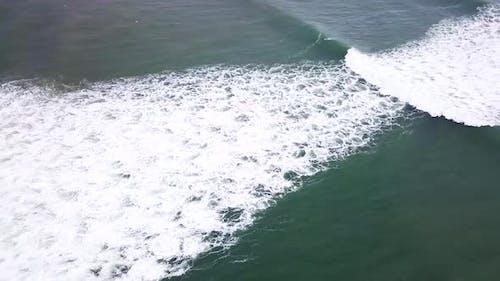 Aerial of Turbulent Ocean