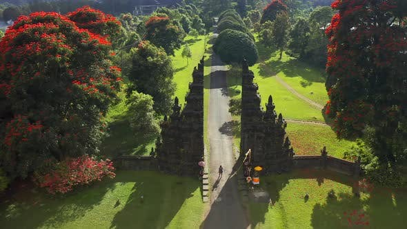 Thumbnail for The Famous Bali Gate, Also Called Handara Gate. Aerial View .