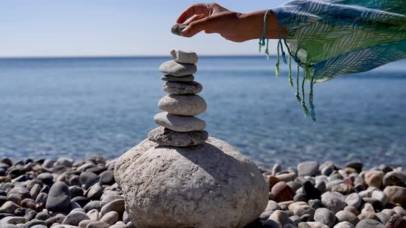 Sandy Beach and Stones