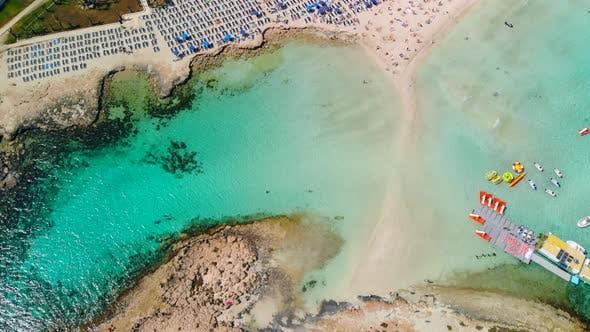 Aerial View of Beautiful Beach of Mediterranean