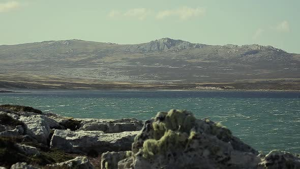 Thumbnail for Bay in the Falkland Islands (Islas Malvinas). Zoom Out Shot.
