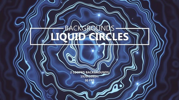 Liquid Circles Smooth Blue Backgrounds