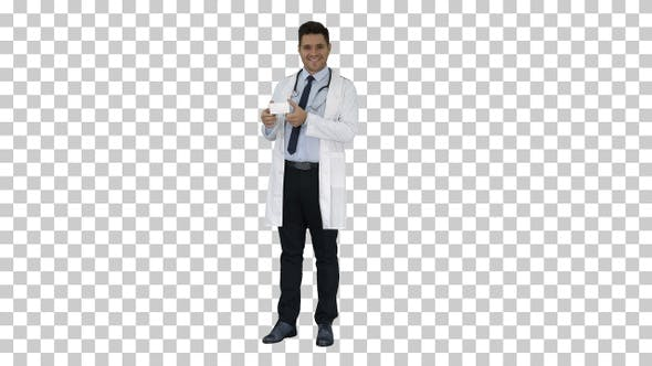 Thumbnail for Doctor Presenting Vitamins and Talking About Them to Camera