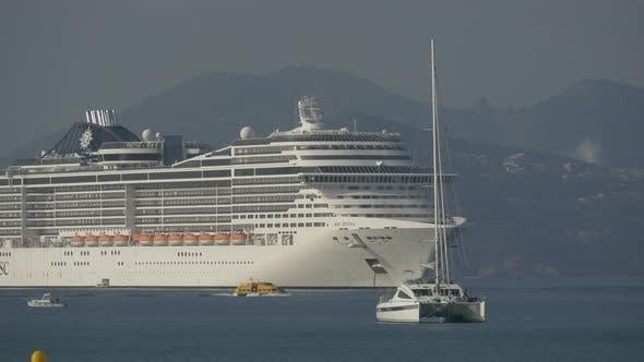 Passenger ship and boats