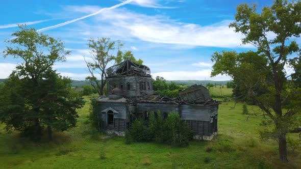 Abandoned Church And Sky