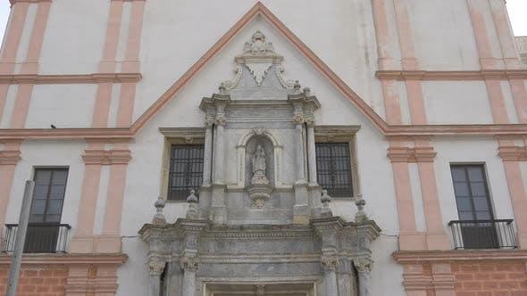 Thumbnail for The facade of a church