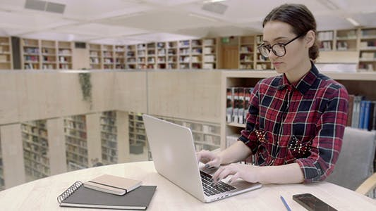 Thumbnail for Girl Working With Laptop Computer
