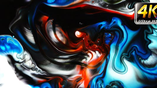 Thumbnail for Abstract Colorful Paint Ink Spread Explode 18