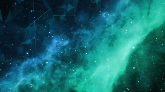 Thumbnail for Space Green Nebulae Flight with Plexus