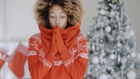 Thumbnail for Young African Woman Celebrating Christmas
