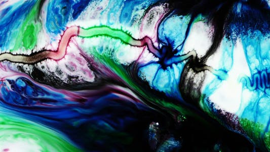 Thumbnail for Abstract Colorful Paint Ink Spread Explode 25