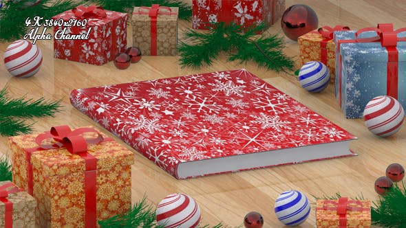 Thumbnail for Christmas Book Open