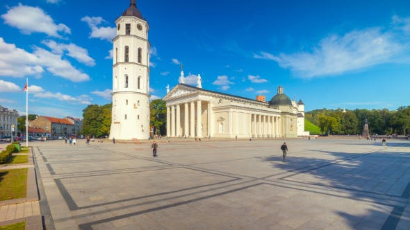 Thumbnail for Cathedral Square In Vilnius, Lithuania