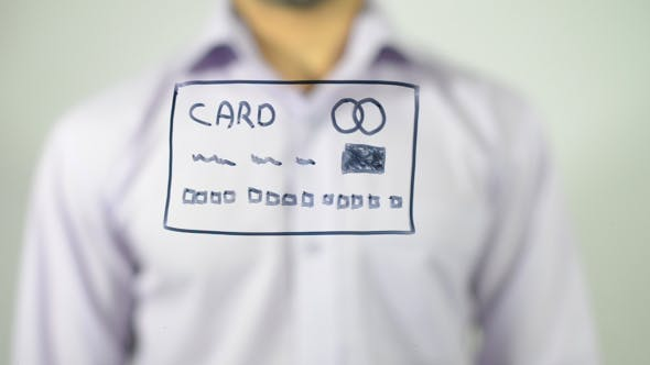 Thumbnail for Credit Card Illustration on Transparent Screen