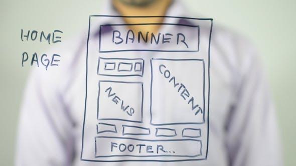 Web Home Page, Conceptual Illustratiion