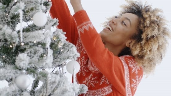 Thumbnail for Happy Trendy African Girl At Christmas