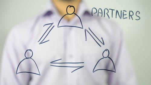 Partners Illustrating Concept