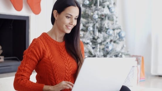 Thumbnail for Happy Young Woman Browsing The Internet