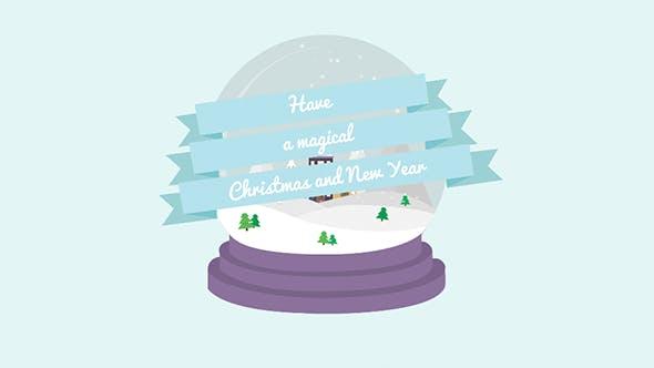 Cartoon Christmas Postcard 03