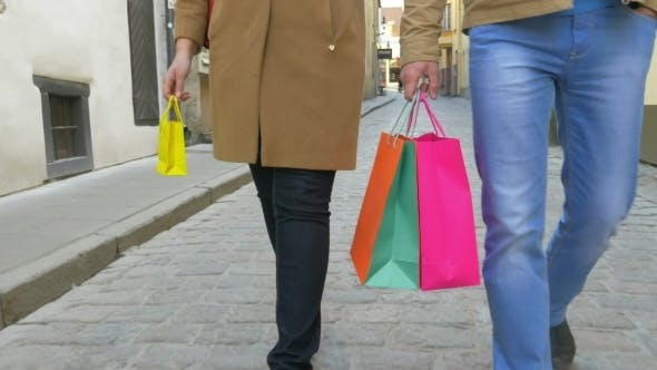 Thumbnail for Family Carrying Shopping Bags