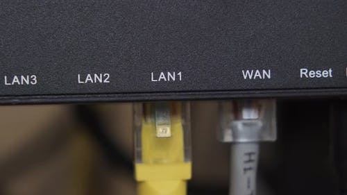 Internet LAN Cable Conncecting Concept