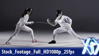 Fencer In Action